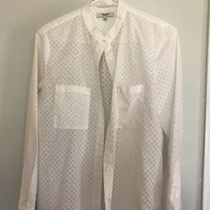 Made well button down ivory medium